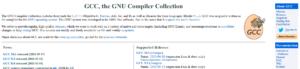 GNU Complier Collection screenshot